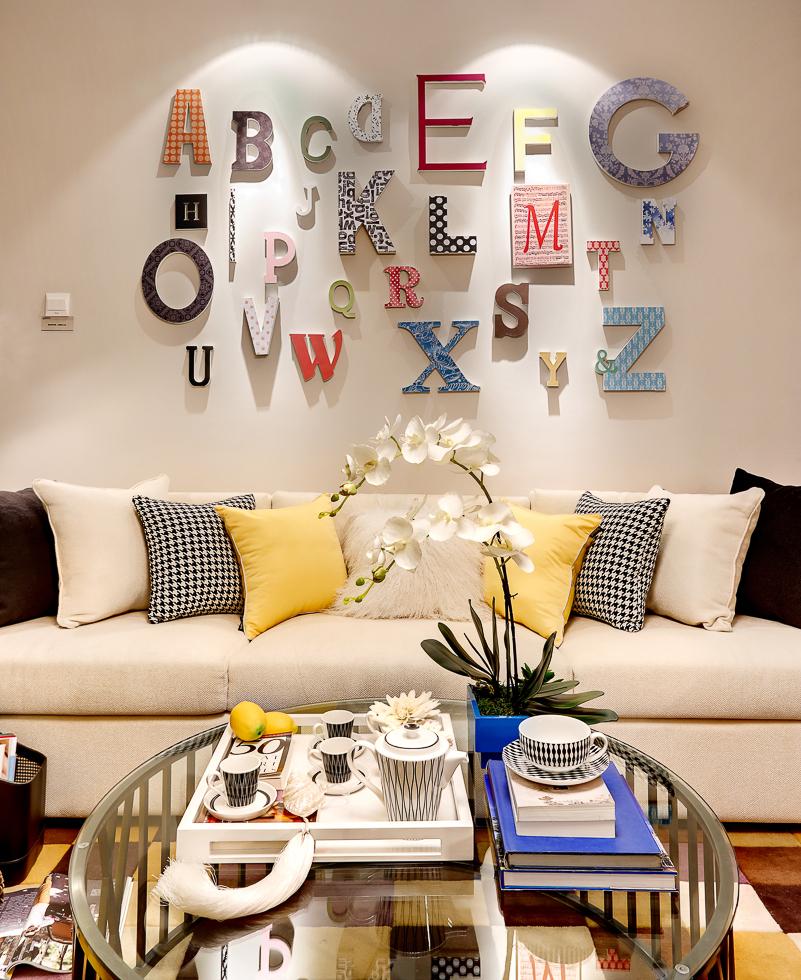100平米三居室沙发背景墙装修效果图