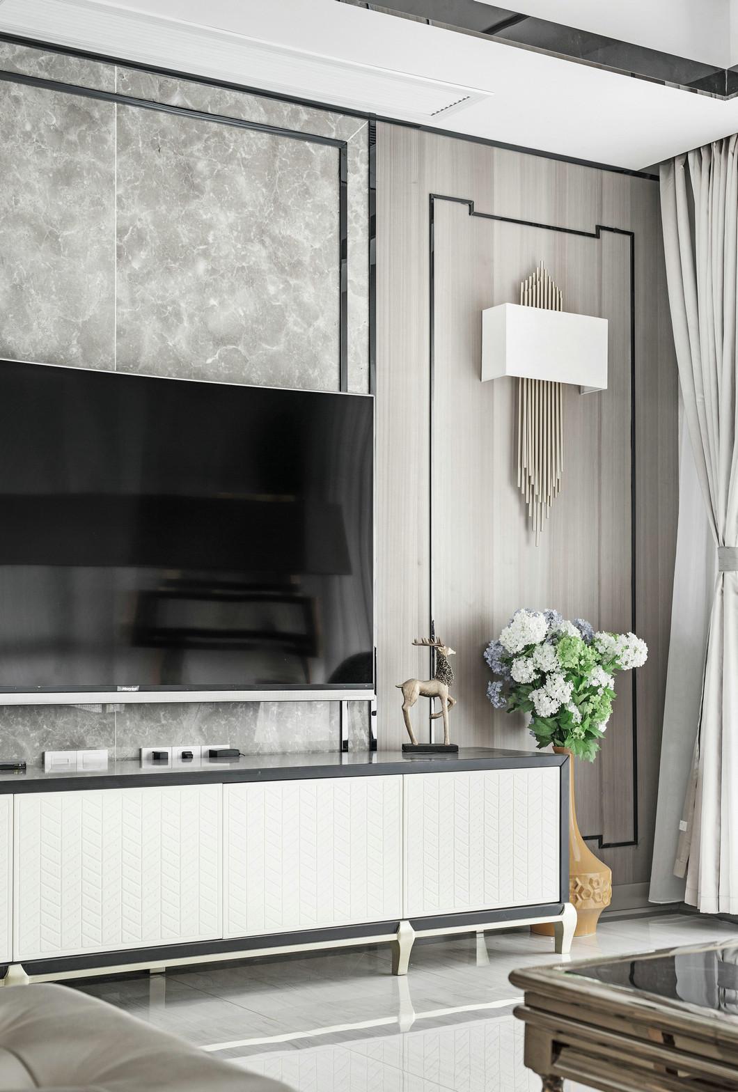 大户型现代混搭装修电视柜设计效果图