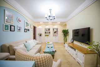 地中海混搭风格三居客厅装修效果图