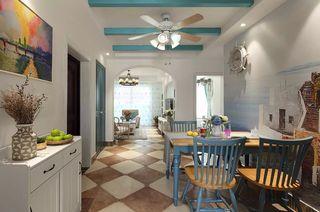 90平米地中海风格餐厅装修效果图