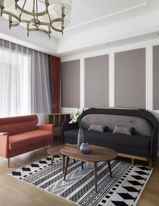 三居室简美风格客厅装修效果图