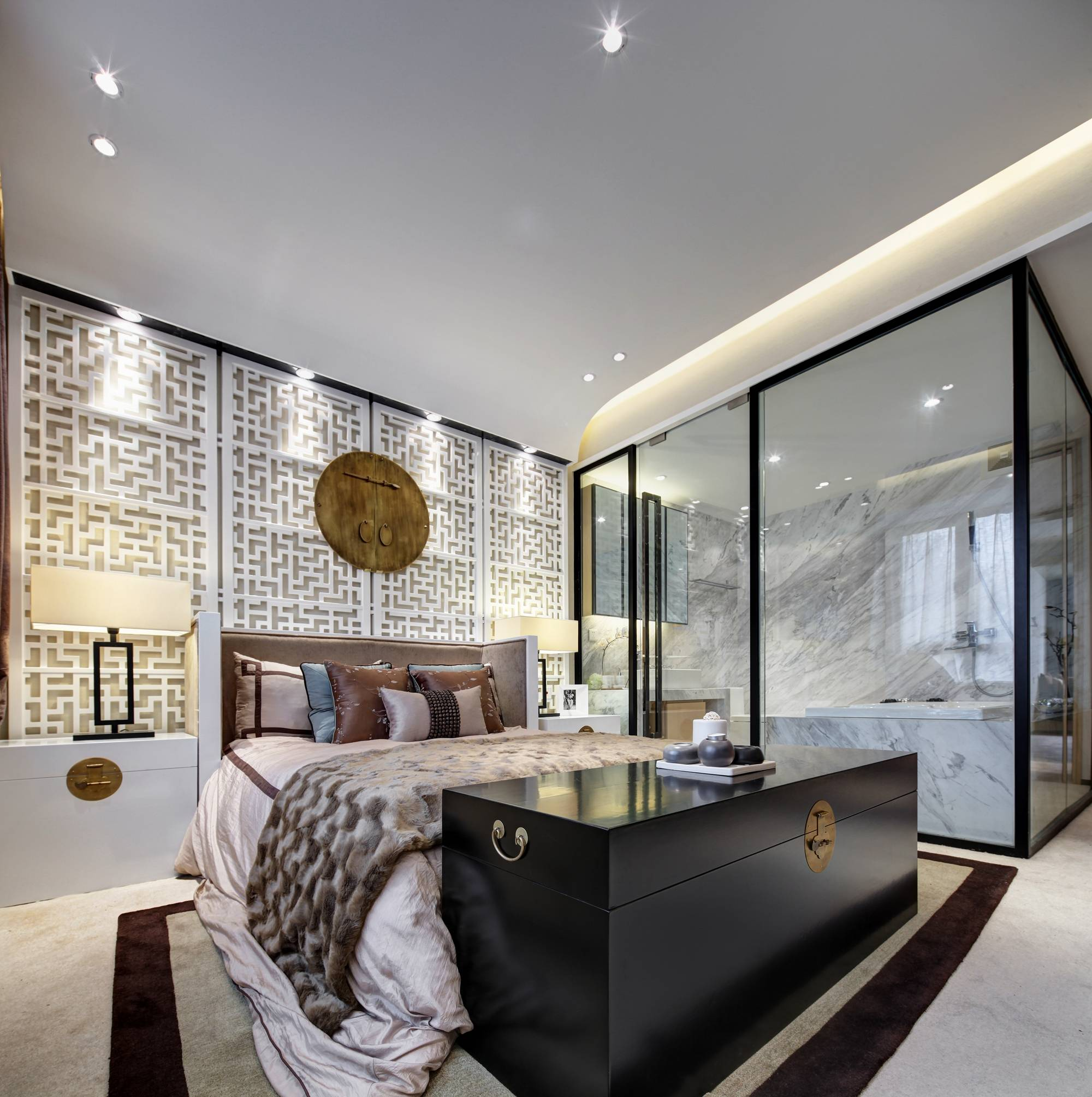 大户型新中式卧室装修设计图