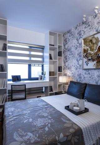 黑白灰现代风卧室装修效果图