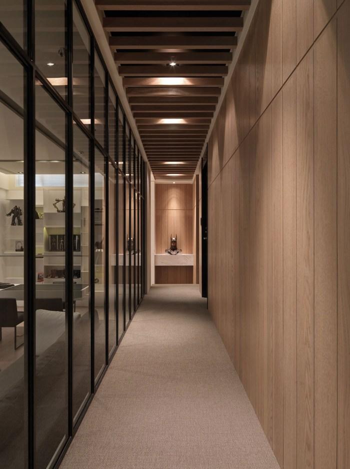 简约现代公寓走廊装修设计效果图