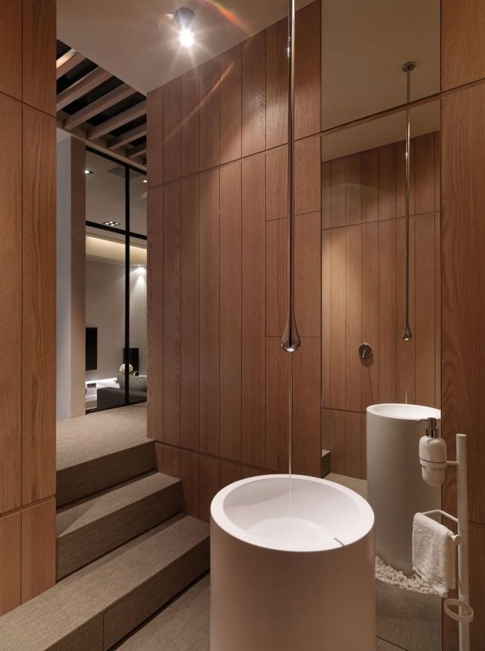 简约现代公寓卫生间装修设计效果图