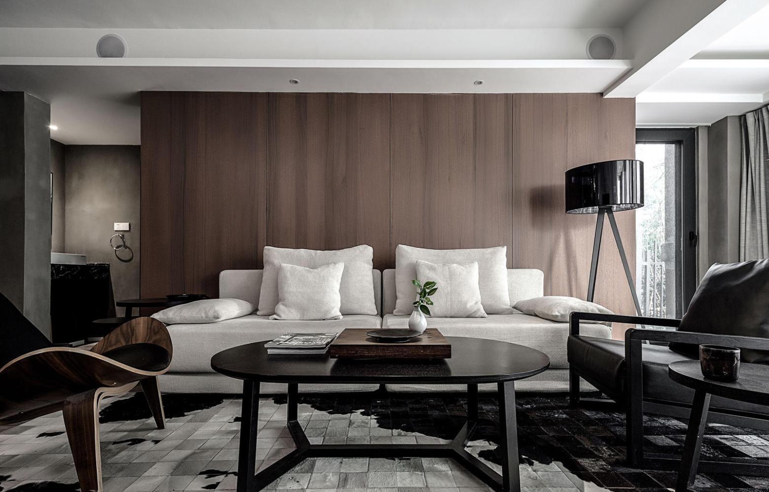 140平米现代三居室沙发墙装修效果图