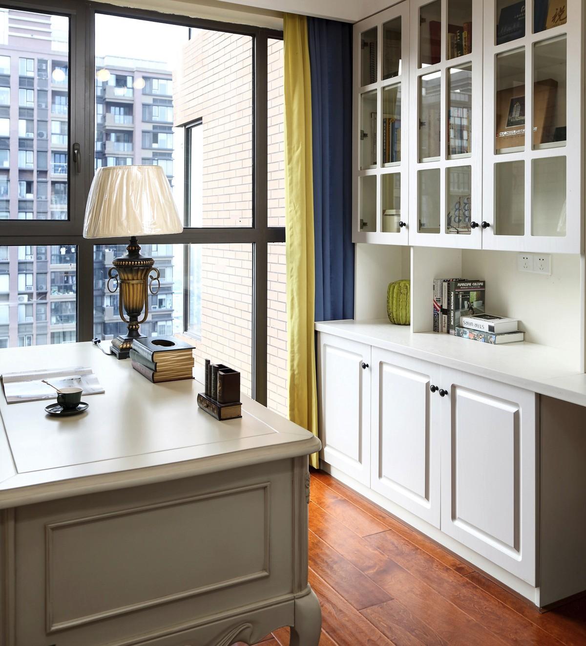 120平美式风格书房装修设计图