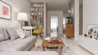 60㎡北欧风公寓客厅装修效果图