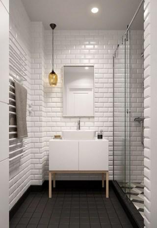 60㎡北欧风公寓卫生间装修效果图