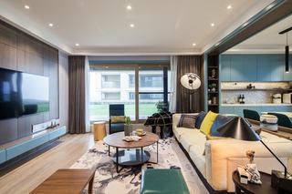 现代混搭四居室客厅装修效果图