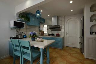 地中海风格二居厨房装修效果图