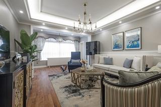 180平美式风格客厅装修注册送300元现金老虎机图