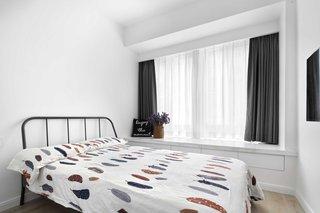 白色北欧风二居卧室装修效果图