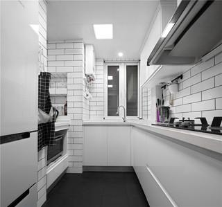 白色北欧风二居厨房装修效果图