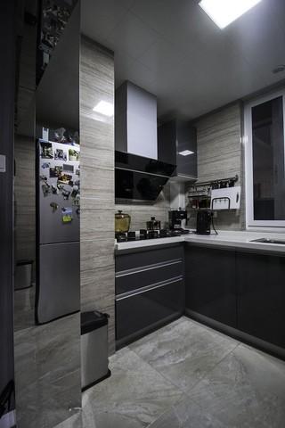 灰色调现代风二居厨房装修效果图