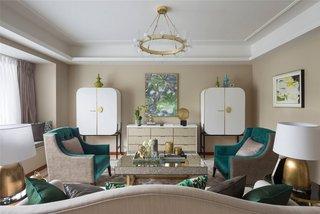 时尚现代别墅客厅装修设计效果图