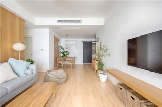 极简日式风格三居客餐厅装修效果图