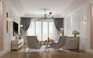 170平简欧风格客厅装修效果图