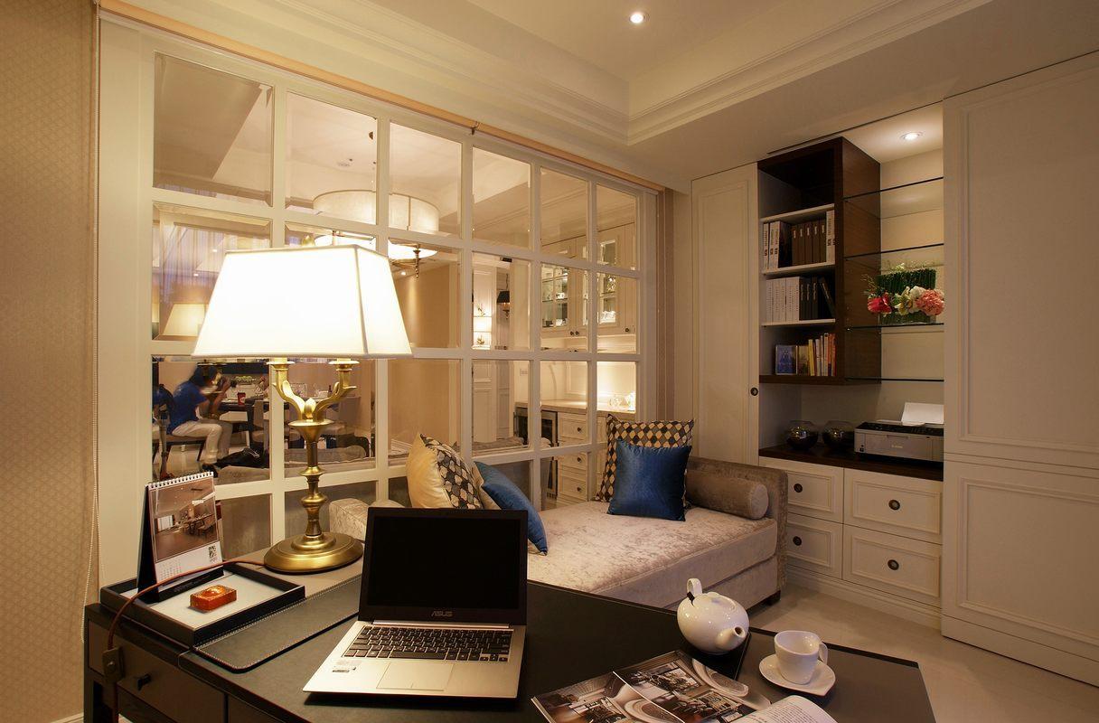 大户型简欧风格书房装修效果图