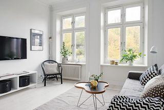 40平米白色公寓客厅装修效果图