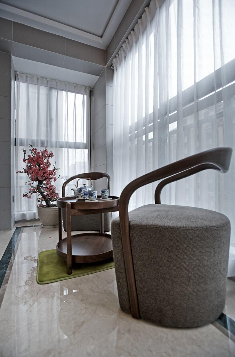 三居室中式风格阳台装修效果图