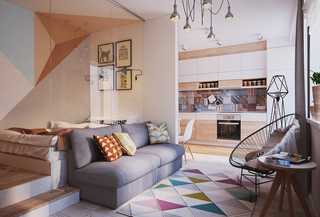 40平米小户型公寓装修效果图