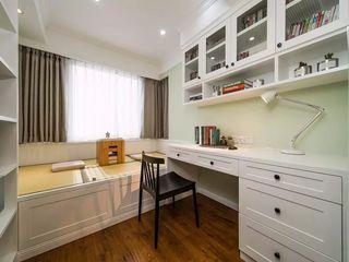 89㎡混搭三居室书房装修效果图
