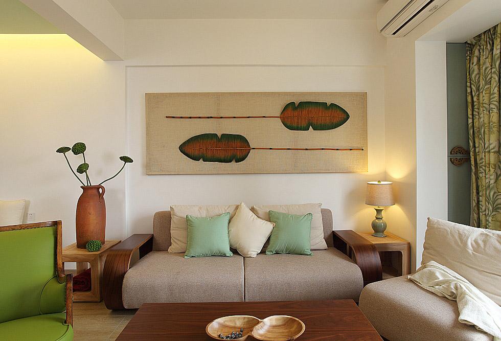 89㎡小复式三居沙发背景墙装修效果图