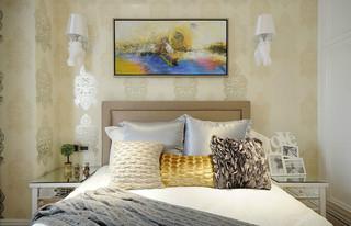 140平新古典风格卧室背景墙装修效果图