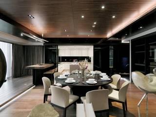 大户型现代混搭厨餐厅装修效果图