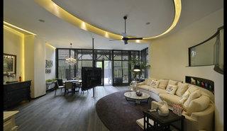 大户型复式混搭风格客厅装修效果图