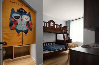 现代简约三居儿童房装修设计图