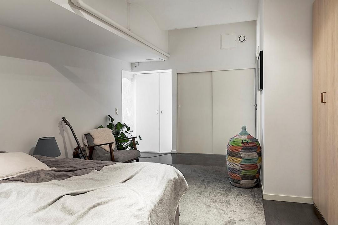北欧混搭风格公寓卧室装修效果图