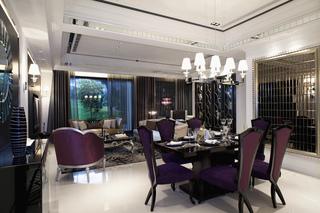 新古典风格样板间客餐厅装修效果图
