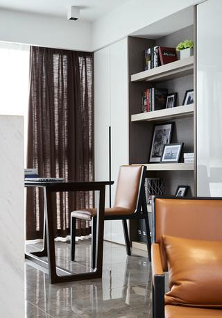 145平时尚现代风书房装修效果图