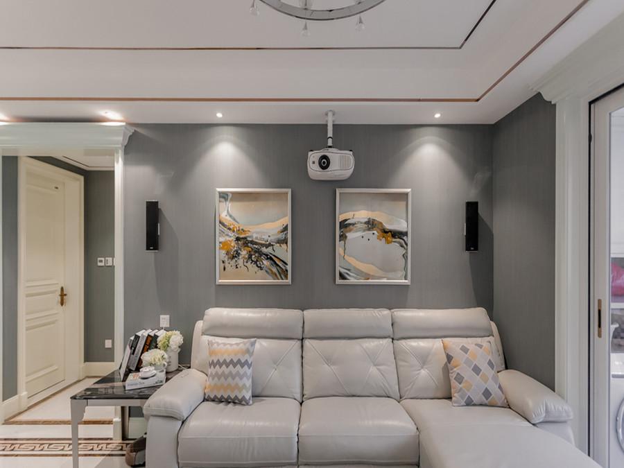 简欧风格三居沙发背景墙装修效果图