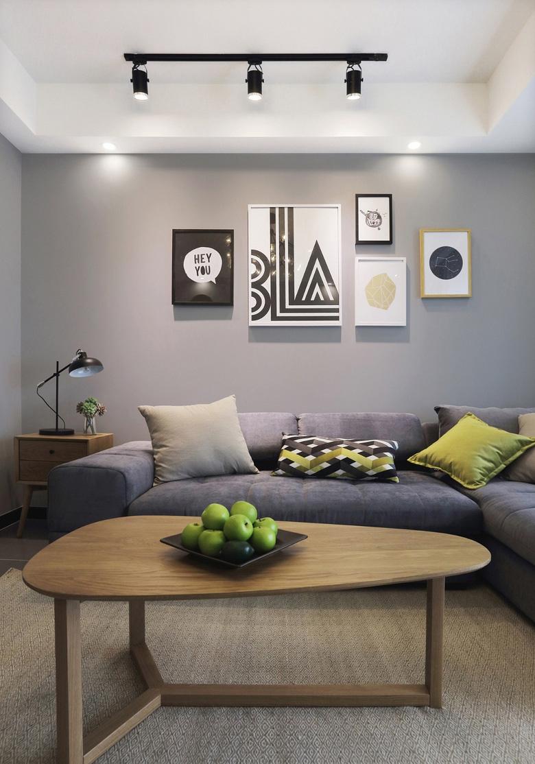 89平北欧风格沙发背景墙装修效果图