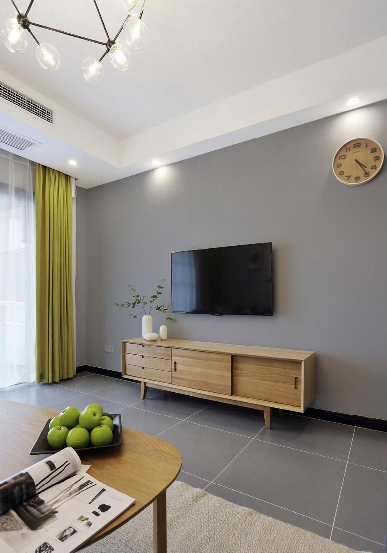 89平北欧风格电视背景墙装修效果图