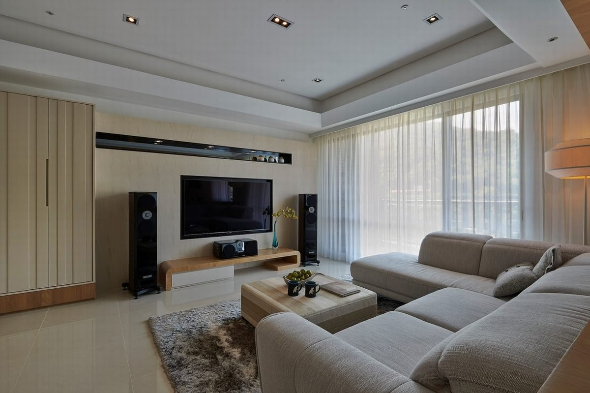 139平米现代风格电视背景墙装修效果图