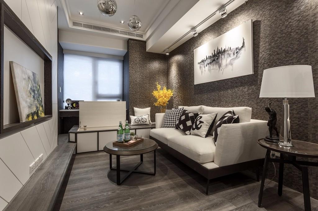 小户型现代简约客厅装修效果图