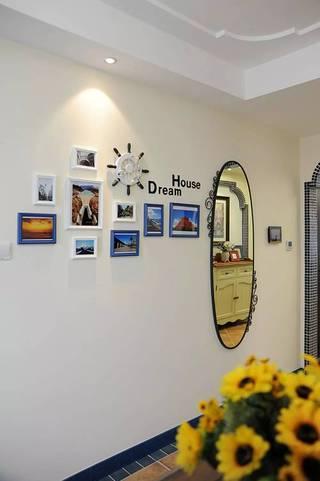 三居室地中海风格照片墙装修设计图