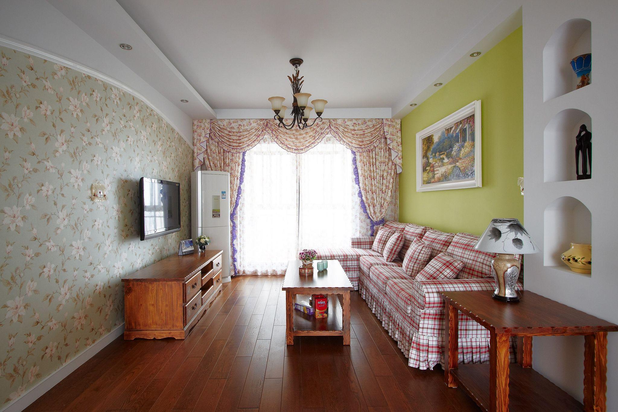 两居室田园风格客厅装修效果图