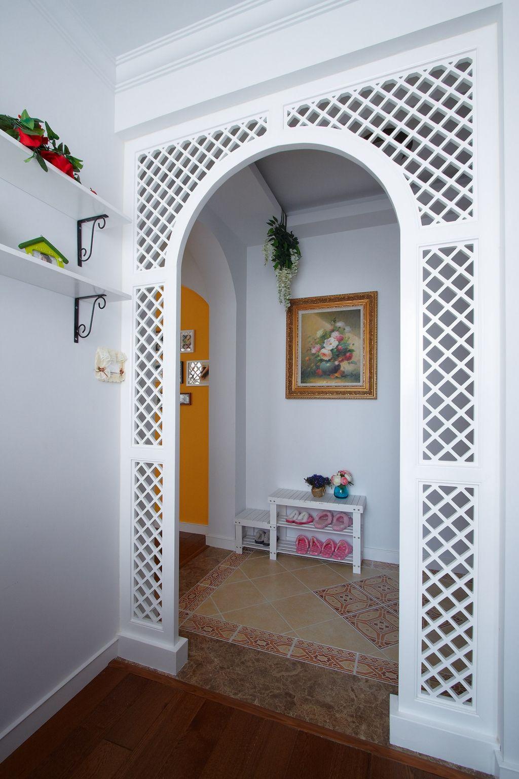 田园风格两居室玄关装修效果图
