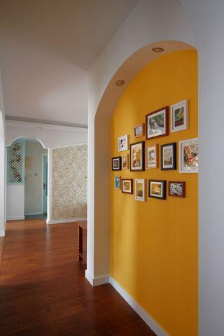 两居室田园风格装修照片墙设计图