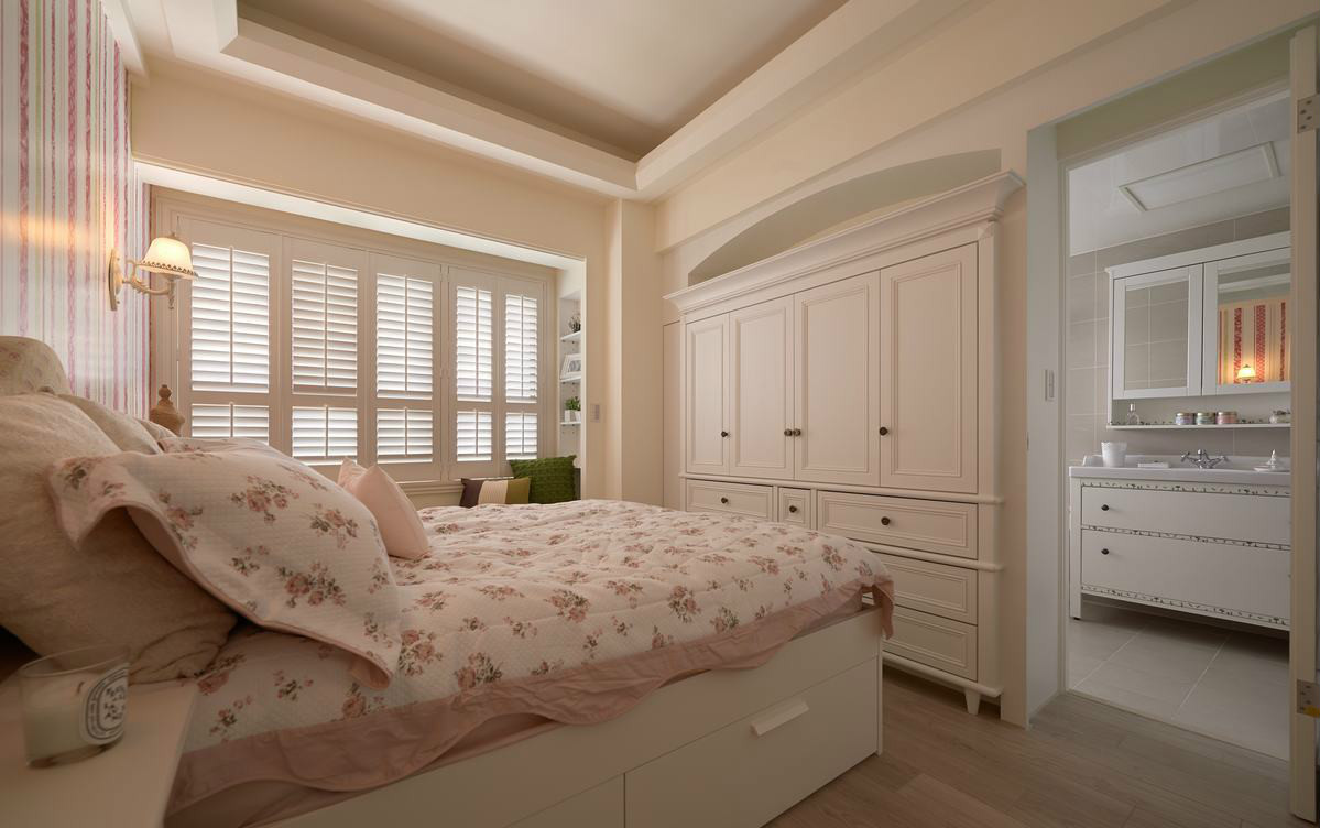 72平现代田园风格卧室装修效果图