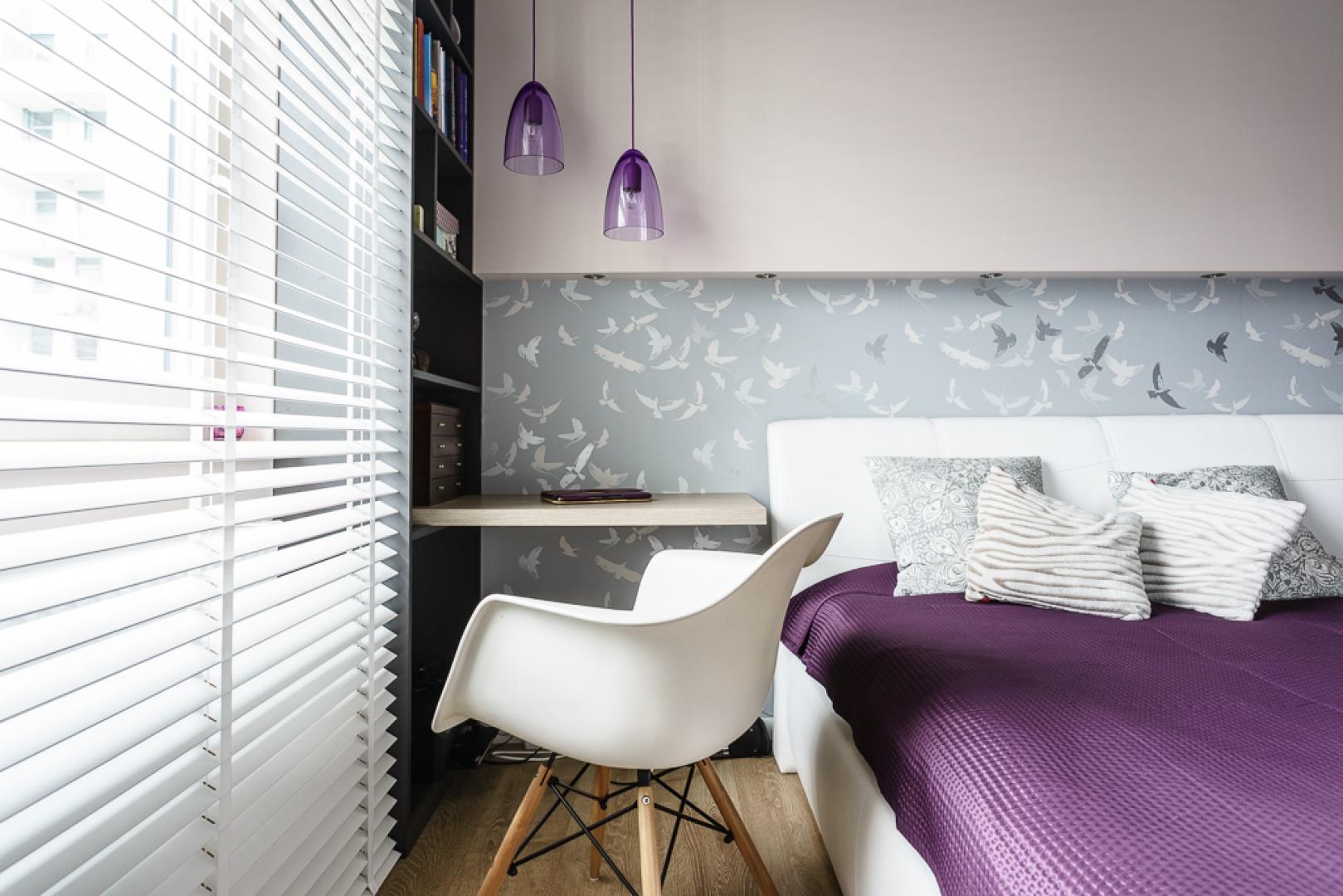 简约二居公寓装修卧室百叶窗帘设计