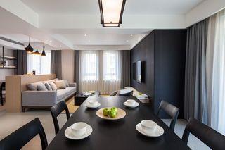 现代简约二居室客餐厅装修效果图