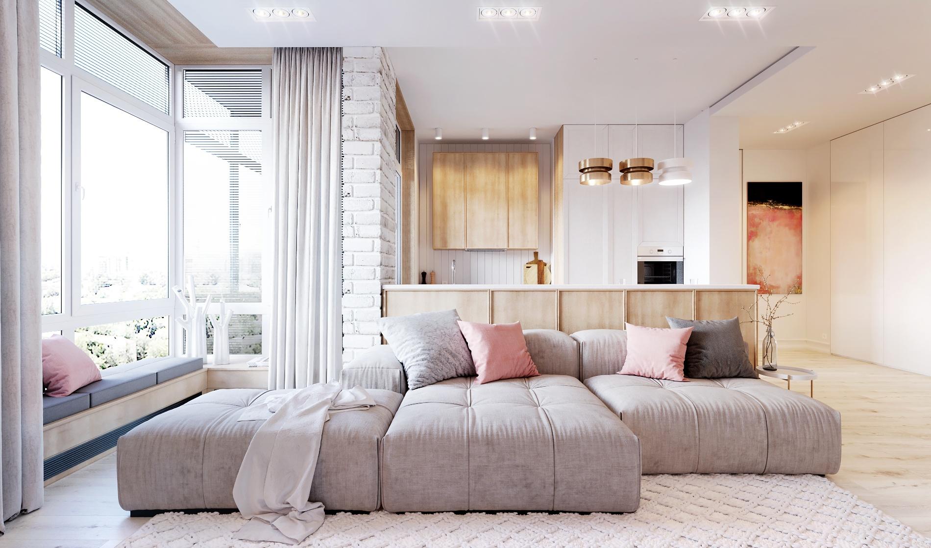 简约时尚公寓客厅装修效果图