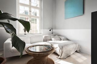 102平灰色公寓休闲区装修效果图