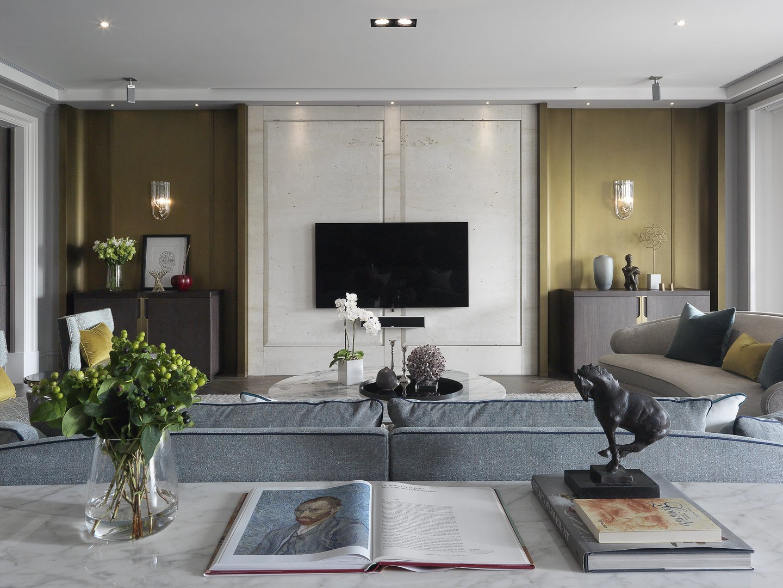 大户型现代简约电视背景墙装修效果图